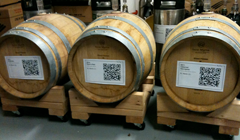 Barrel tracking using QR codes